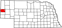 Nebraska map highlighting Kimball County